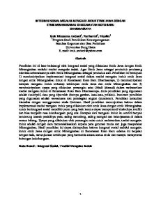 INTEGRASI SOSIAL MELALUI MENGAKU INDUK ETNIK JAWA DENGAN ETNIK MINANGKABAU DI KECAMATAN KOTO BARU DHARMASRAYA