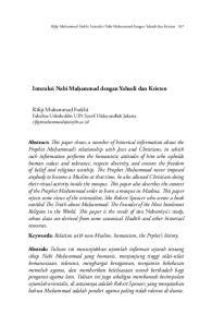 Interaksi Nabi Muḥammad dengan Yahudi dan Kristen