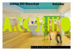 Interieur BSO Nieuwstraat. Rotterdam