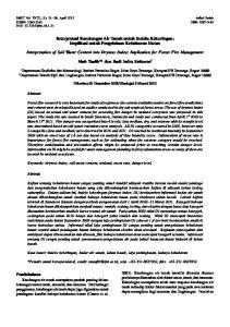 Interpretasi Kandungan Air Tanah untuk Indeks Kekeringan: Implikasi untuk Pengelolaan Kebakaran Hutan