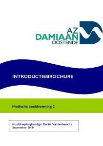INTRODUCTIEBROCHURE. Medische beeldvorming 2