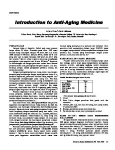 Introduction to Anti-Aging Medicine