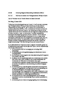 Invoering Diagnose Behandeling Combinaties (DBCs) Brief van de minister van Volksgezondheid, Welzijn en Sport