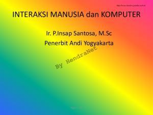 Ir. P.Insap Santosa, M.Sc Penerbit Andi Yogyakarta