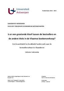 Is er een groeiende kloof tussen de bestsellers en de andere titels in de Vlaamse boekenverkoop?