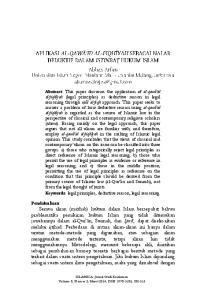 ISLAMICA: Jurnal Studi Keislaman Volume 8, Nomor 2, Maret 2014; ISSN ;