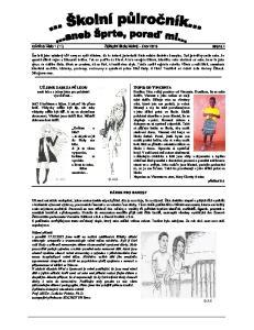 číslo 1 (11) Základní škola Mokrá únor 2013 strana 1