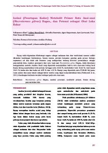 Isolasi (Penetapan Kadar) Metabolit Primer Ratu Anai-anai (Macrotermes gilvus) Hagen., dan Potensi sebagai Obat Luka Bakar