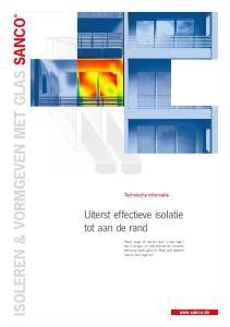 ISOLEREN & VORMGEVEN MET GLAS SANCO