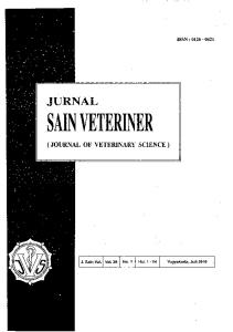 ISSN : JURNAL SAIN VETERINER (JOURNAL OF VETERINARY SCIENCE )