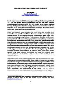 Isu Krusial UU Pemilu dan Perubahan Politik di Indonesia 1. Bayu Dardias
