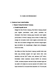 IV. HASIL DAN PEMBAHASAN. 1. Tinjauan Tentang Kota Bandar Lampung