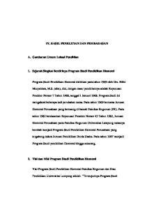 IV. HASIL PENELITIAN DAN PEMBAHASAN. 1. Sejarah Singkat Berdirinya Program Studi Pendidikan Ekonomi