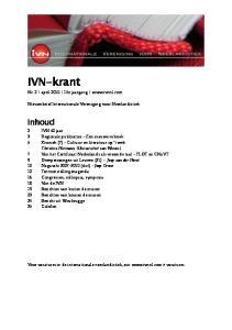 IVN-krant. Inhoud. Nr. 2 april e jaargang  Nieuwsbrief Internationale Vereniging voor Neerlandistiek