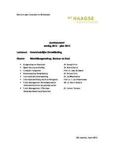 Jaardocument verslag 2012 plan 2013