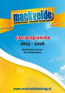 Jaarprogramma Activiteiten in en om Het Lammershoes