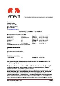 Jaarverslag april 2012 april 2013