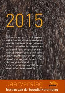 Jaarverslag. bureau van de Zoogdiervereniging