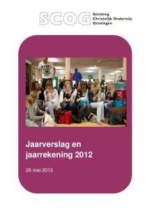 Jaarverslag en jaarrekening 2012
