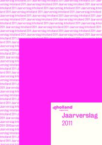 Jaarverslag Jaarverslag Inholland 2011 Jaarverslag Inholland 2011 Jaarverslag Inholland 2011 Jaarverslag