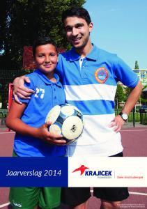 Jaarverslag Krajicek Scholarshipper Faysal Bensiali op Playground Kroeven met Ayoub