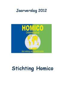 Jaarverslag Stichting Homico