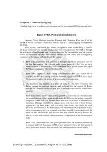 Japan-DPRK Pyongyang Declaration