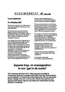 Japanse kap- en massagesalon: in een gat in de markt