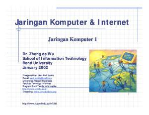 Jaringan Komputer & Internet