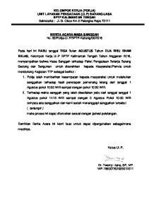JASA BPTP KALIMANTAN TENGAH Sekretariat : Jl. G. Obos Km.5 Palangka Raya 73111