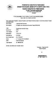 JASA Jalan Jokotole No. 143 Telp. (0324) Pamekasan