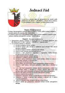 Jednací řád Článek I Úvodní ustanovení Článek II Pravomoc zastupitelstva