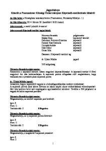 Jegyzőkönyv Készült a Pusztazámor Községi Önkormányzat Képviselő-testületének üléséről