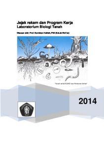 Jejak rekam dan Program Kerja Laboratorium Biologi Tanah