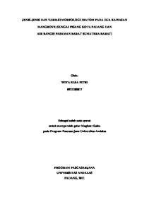 JENIS-JENIS DAN VARIASI MORFOLOGI DIATOM PADA DUA KAWASAN MANGROVE (SUNGAI PISANG KOTA PADANG DAN AIR BANGIS PASAMAN BARAT SUMATERA BARAT) Oleh: