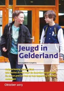 Jeugd in Gelderland. Hulpverlening op een ipad Wie beslist straks over de duurdere jeugdhulp? Ze weten precies hoe ze hun beperking kunnen verbergen