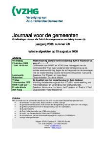 Journaal voor de gemeenten Ontwikkelingen die voor alle Zuid-Hollandse gemeenten van belang kunnen zijn