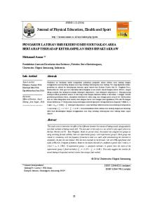 Journal of Physical Education, Health and Sport