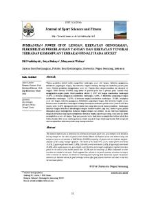 Journal of Sport Sciences and Fitness
