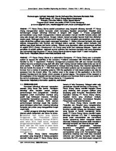 Journal Speed Sentra Penelitian Engineering dan Edukasi Volume 7 No ijns.org