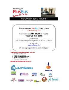 Juli Boodschappen PlusBus Etten Leur Samen Er Op Uit. vanaf 30 mei 2016