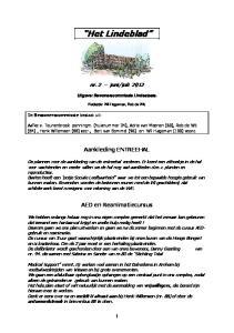 juli Uitgave: Bewonerscommissie Lindestaete. Redactie: Wil Hageman, Rob de Wit