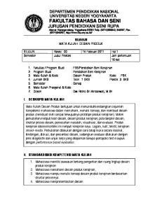 JUR... Revisi : Februari 2011 Hal 1 Semester Judul Praktek Jam pertemuan: 16 kali