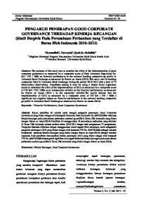 Jurnal Akuntansi ISSN Program Pascasarjana Universitas Syiah Kuala Halaman 42-53