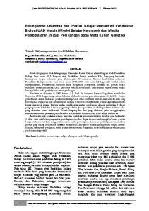 Jurnal BIOEDUKATIKA Vol. 2 No. 2 Desember 2014 ISSN: Halaman 14-19