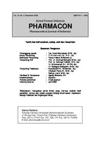 Jurnal Farmasi Indonesia PHARMACON Pharmaceutical Journal of Indonesia