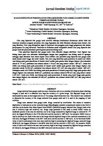 Jurnal Geodesi Undip April 2013