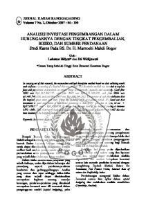 JURNAL ILMIAH RANGGAGADING Volume 7 No. 2, Oktober 2007 : ABSTRACT PENDAHULUAN. Oleh : Lukman Hidyat* dan Eti Widijawati