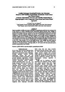 Jurnal ILMU DASAR, Vol. 8 No. 1, 2007 :