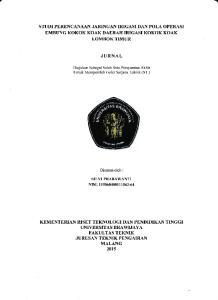JURNAL. J[,RUS$I TEKNIK PENGAIRAN MALANG 201s. KEMENTERIAN RISET TEKNOLOGI DAl\t PENTDIDIKAII TINGGI T.INTYERSITAS BRAWIJAYA FAKULTAS TEKNII(